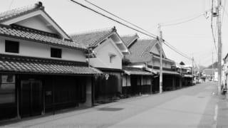 篠山街道の宿場町 福住の古い町並み